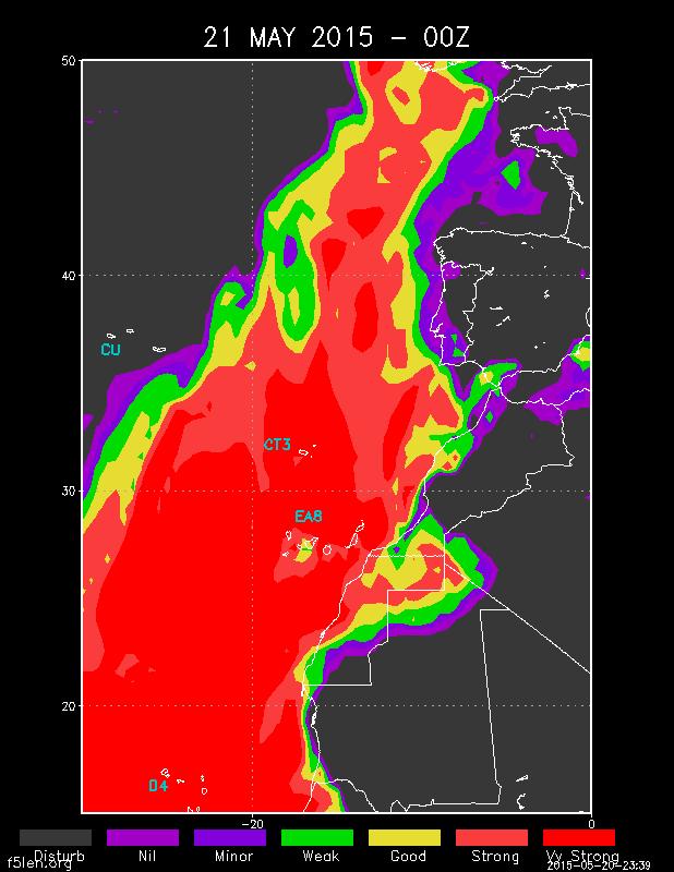 Super Atlantic tropo EI3KD listened D4C/B on 144.436MHz