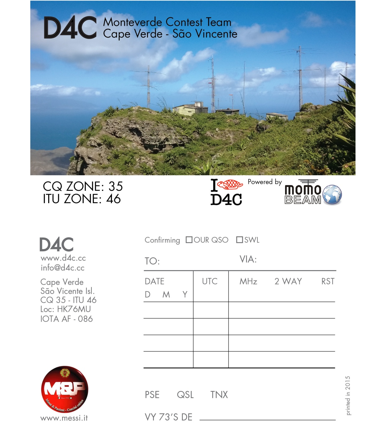CQWW SSB 2015 Single Op 20m qrv with callsign D4C