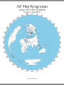 Azimuthal Map Kyrgyzstan