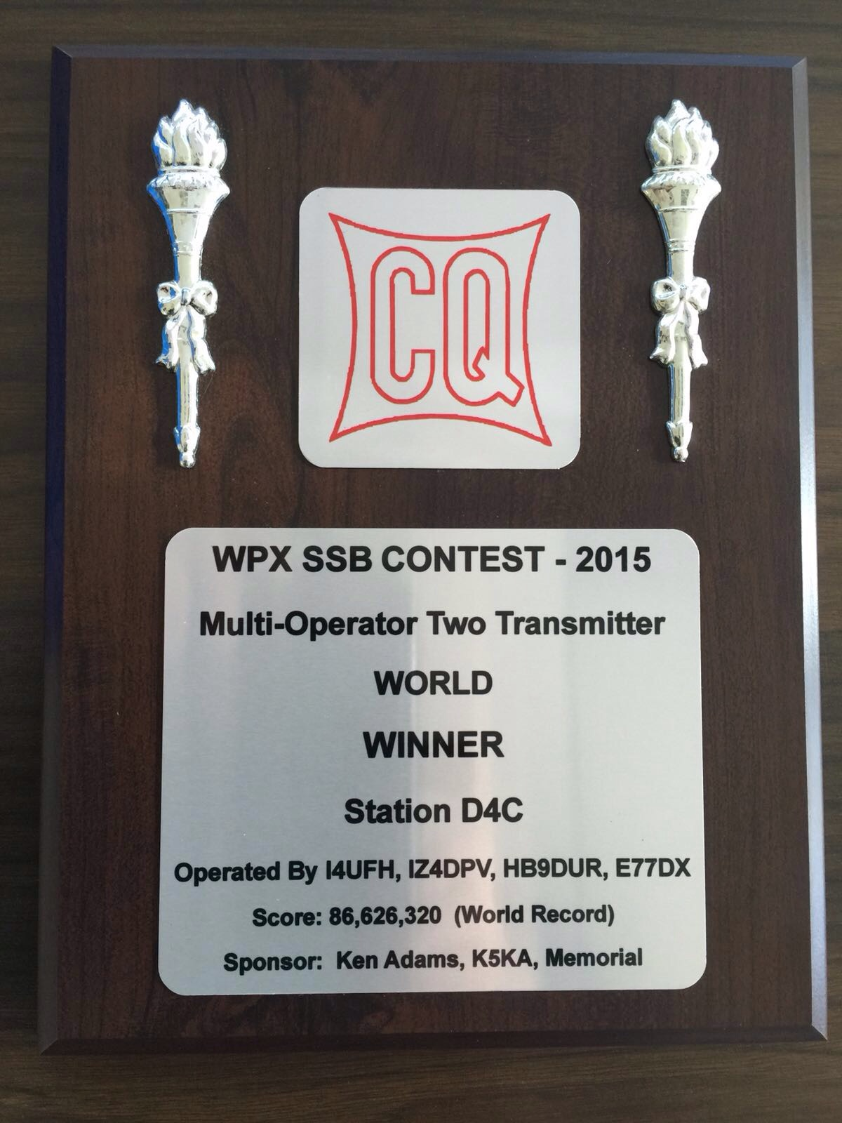 CQWPX SSB 2015 WORLD WIDE record atD4C
